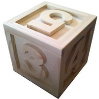 Amazon.com: 14x14x14 Large Wooden Block Prop 12345: Camera &amp; Photo