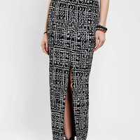 Silence &amp; Noise Knit Etched Print Maxi Skirt
