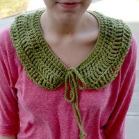 Green Crocheted Collar