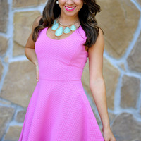 The Bubblegum Dress: Pink Chevron | Hope&#x27;s
