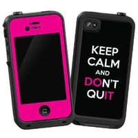 "Keep Calm and Don't Quit ""Protective Decal Skin"" for LifeProof 4/4S Case"