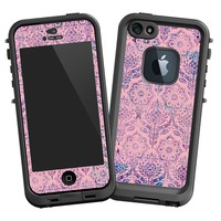 Vintage Purple and Pink Damask Skin for Iphone 5 LifeProof Case