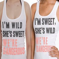 WILD, SWEET, DANGEROUS | BFF TANKS