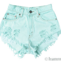 ALL SIZES SEAFOAM Vintage Levi highwaisted denim by Hanmattan