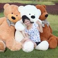 NEW !GIANT 78&quot; TEDDY BEAR PLUSH HUGE SOFT 100% COTTON TOY 200CM*three colors