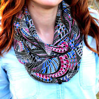 Woman Scarf Multicolored  Infinity Scarf nice Color Scarf, Circle Scarf Loop Women's Fashion Accessories, Fabric scarves