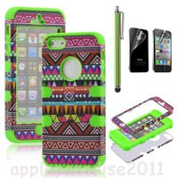 Totem Protective Case For Iphone 4/4s with pen and sticker (5)