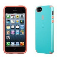 Speck CandyShell Case for iPhone 5 - Pool Blue/Wild Salmon Pink