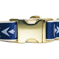 One Kings Lane - Pet Accessories - Arrowhead Collar, Royal Blue