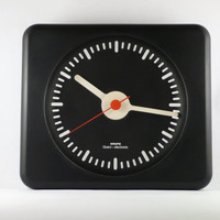 Krups Modernist Wall Clock Vintage German 1970s