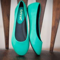 Sonia-4 Teal Ballet Flat - Shoes 4 U Las Vegas