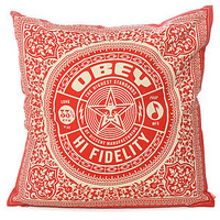 Obey Pillow Hi Fidelity Dissent Red
