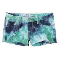Mossimo Supply Co. Juniors Tie Dye Denim Short - Blue Hawaii
