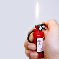 Amazon.com: Fire Extinguisher Design Flame Lighter with LED Flashlight Red: Everything Else