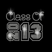 Class of 2013 Block Rhinestone Transfer Iron On DIY Bling 34085