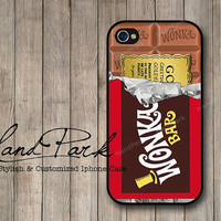 Golden Ticket Willy Wonka iPhone 4 Case iPhone 4s Case by HandPark