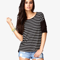 Striped Dolman Tee | FOREVER21 - 2051974502