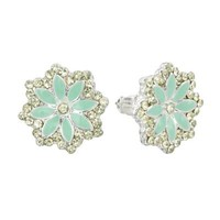 LC Lauren Conrad Simulated Crystal Flower Button Stud Earrings