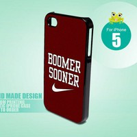 Nike Boomer Sooner - iPhone 5 black case