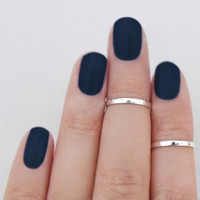 Serge And Destroy — Knuckle Ring Above the Knuckle Band Mid First Knuckle Midi Sterling Silver Set of 2