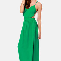 LULUS Exclusive Rooftop Garden Backless Jungle Green Dress