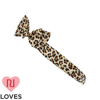 Girls brown leopard print stretch head band - accessories - girls