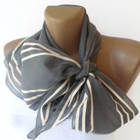 women gray stripe scarf , 2013 NEW Trend scarf , bandana, headwrap , fashion accessory , woman cotton scarves