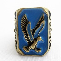 Ethnic Rings with Eagle Engraved Details
