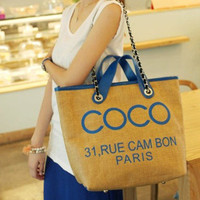 Mademoiselle Coco Canvas Bag