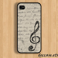 IPHONE 5 CASE  Gclef music lyrics note  iPhone 4 by DecCase