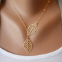 ladylove  simple fashion leaf necklace