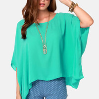 Square Necessities Seafoam Green Top