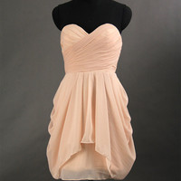 Sexy 2013 Short Cheap Chiffon Prom Dresses