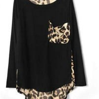 Leopard Print Chiffon T-shirt