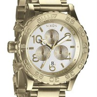 Nixon 42-20 Chrono Champagne Silver Watch  |  Free Shipping