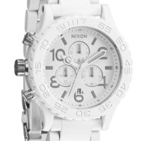 Nixon 42-20 Chrono All White/Silver Watch | Free Worldwide Shipping