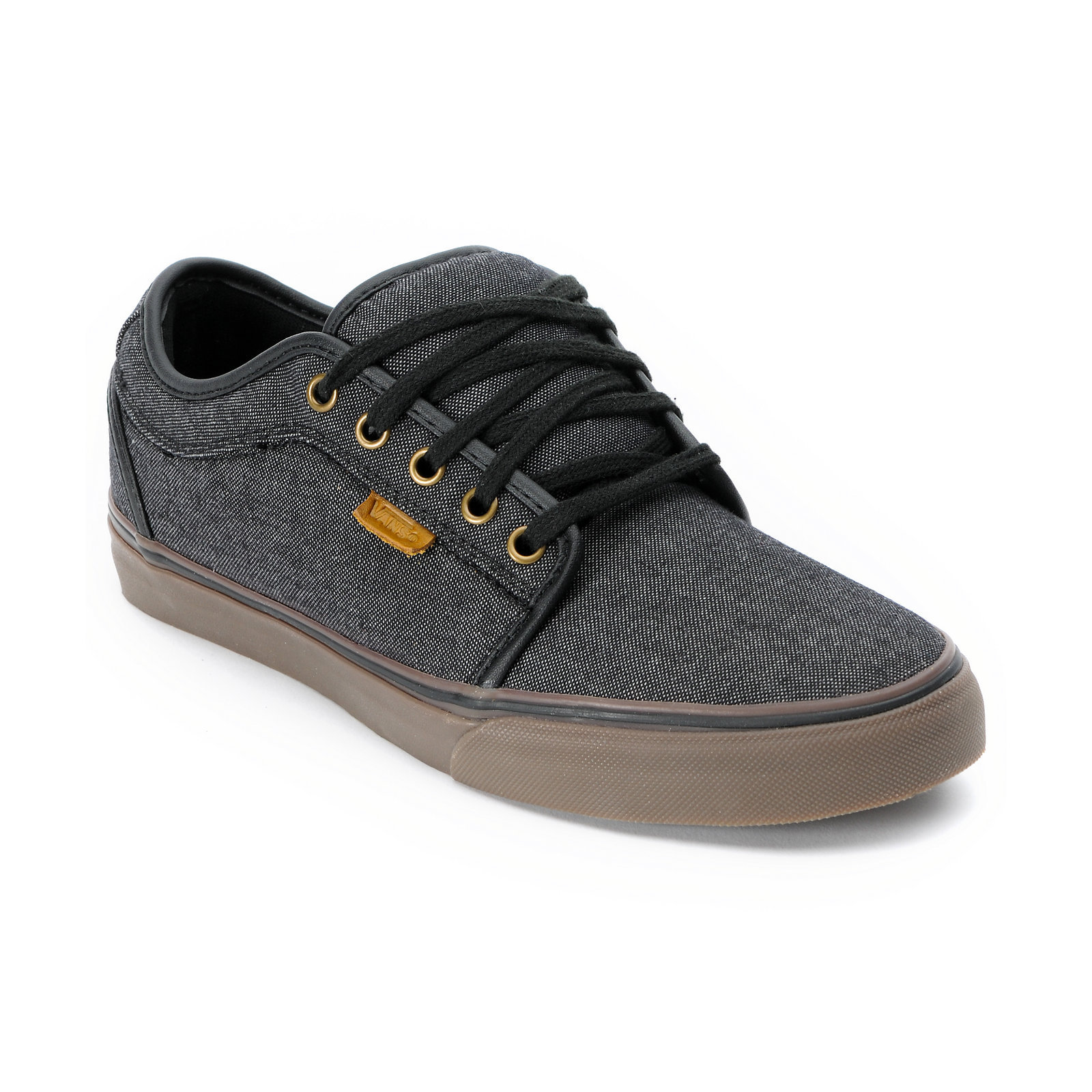 vans chukka low black canvas gum shoe from zumiez