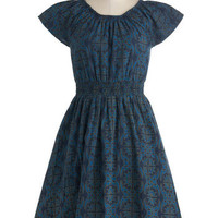 Co-op Artist Dress in Blue Motif | Mod Retro Vintage Dresses | ModCloth.com