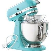 KitchenAid KSM150PSAQ Stand Mixer, Martha Stewart Blue Collection Artisan 5 Qt. Aqua Sky