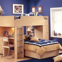 South Shore Furniture, Popular Collection, Complete Loft Bed, Natural Maple