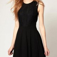 Black Lace Dress - Designer Shoes|Bqueenshoes.com