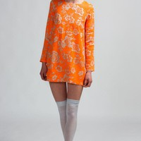 Shakuhachi Fluro Brocade Shift Dress
