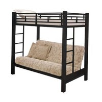 Amazon.com: Home Source Industries 13017 Bunk Bed with Convertible Sofa to Full Sized Bed, Black: Home & Kitchen