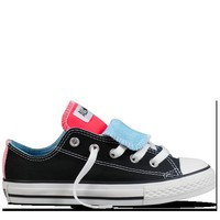 Converse - Chuck Taylor Dble Tongue (4-12 yr) - Low - Black/Neon Pink