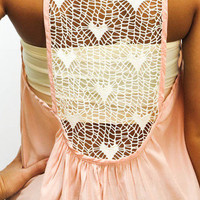 MACA Clothe · Pink Tank with Heart Detail