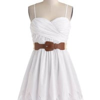 ModCloth Spaghetti Straps A-line Country Craft Festival Dress