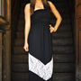 Chevron Forever Maxi Dress: Black/White | Hope&#x27;s