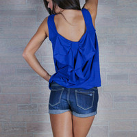Varsity Blues Bow Back Tank