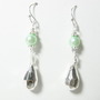 Bridal wedding mint pearl 0.99 sterling silver-plated earrings