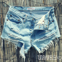 High Waisted Shorts (SMALL-MEDIUM)